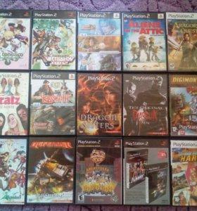 Игры на Sony Playstation 2 (15 шт).