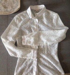 Белая легкая рубашка / блузка