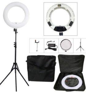 Кольцевая лампа визажиста светодиодная