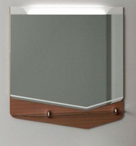 Зеркало со стеклянной полкой CRYSTAL CUB, 70см