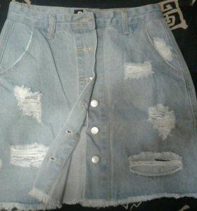 Новая джинсовая юбка 44-46размер