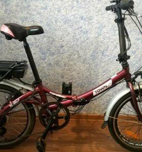 Велогибрид на базе велосипеда topgear Town б/у