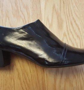 Демисезонные лаковые туфли, натуральная кожа