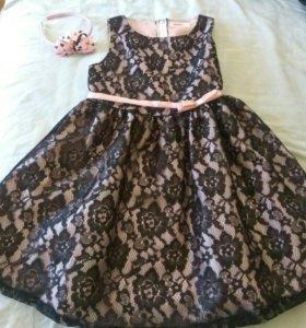 Детское платье для девочек 8-9 лет 134 см