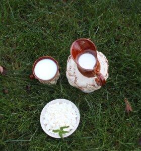 Деревенское молоко, творог, сметана, масло