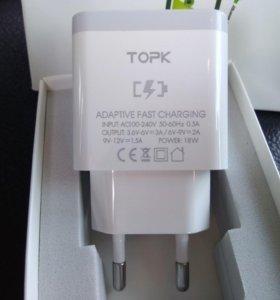 Быстрая зарядка TOPK QC 3.0