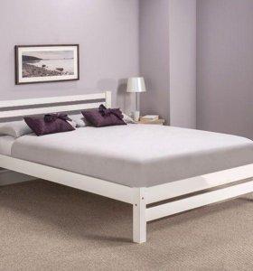 Кровать двуспальная из массива с доставкой по РФ
