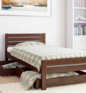 Кровать односпальная leco