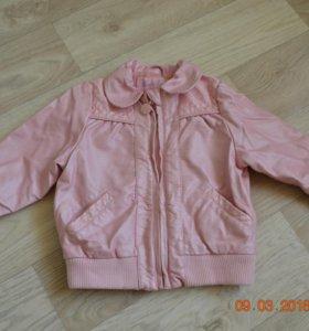 Куртка из искус. кожи. Размер 92