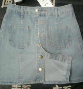Новая джинсовая юбка 42-44разм