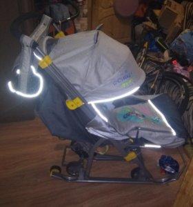 Санки коляска ника-7