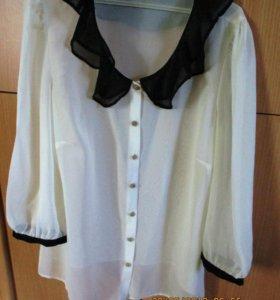 Блузки, рубашки белые офисные