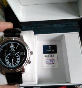 Наручные часы Ника серебро 925 пробы мужские