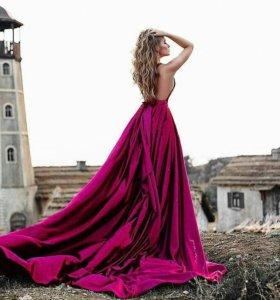 Фотосессия на природе в шикарных платьях