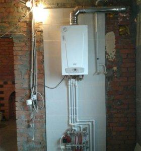 Отопление, Монтаж систем отопления и водоснабжения