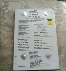 жесткий диск seagate model st340015a