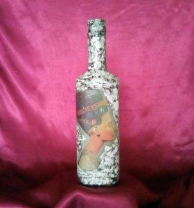 Декорированная бутылочка