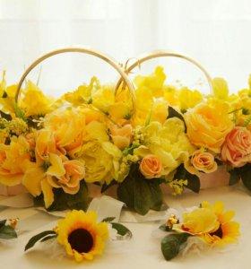 Кольца на свадебную машину