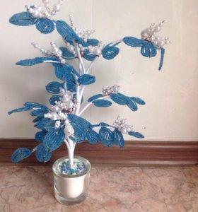 Зимнее дерево из бисера