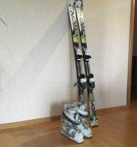 Горные лыжи и горнолыжные ботинки