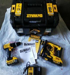 DeWALT: аккумуляторные перфоратор и шуруповерт