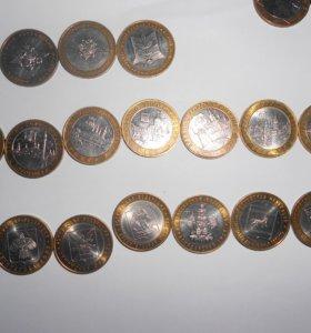Монеты 10 р юбилейные (биметалл)