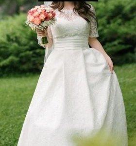 Свадебное платье в английском стиле, возможен торг