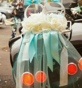Украшения на свадебный мотоцикл