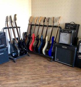 Электрогитара с комбиком комплект гитара