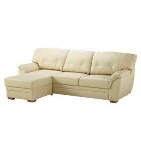 Кожаный диван модель Бьёрбу IKEA