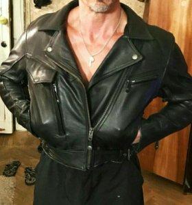 Куртка(косуха) кожаная, кевларовая