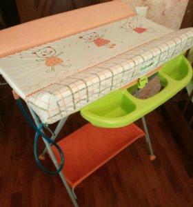 Пеленальный столик - трансформер (с ванночкой)