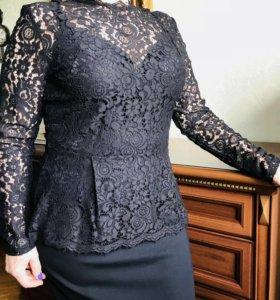 Блуза с баской
