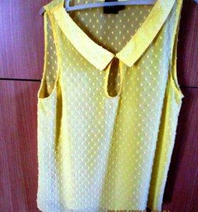 Красивая желтая блузка на лето