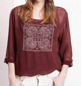 Блуза накидка прозрачная Violeta by Mango