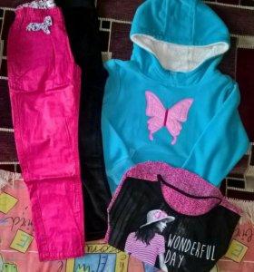 Пакет вещей для девочки на 7-8 лет