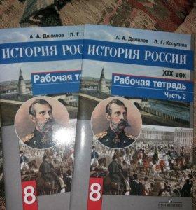 Рабочая тетрадь 2 части история России 8 класс