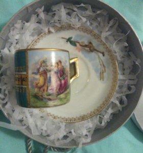 блюдце братьев Корниловых чашка Вена