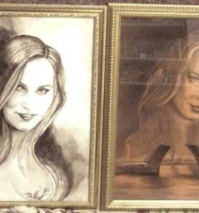 Портрет на заказ, услуги художника.