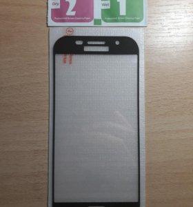 Защитное стекло на Samsung Galaxy A5 2017 (черный)