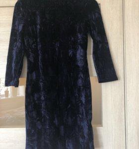 Новое бархатное платье 42