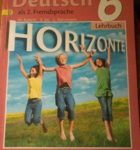 Продам учебник по немецкому языку за 6 класс