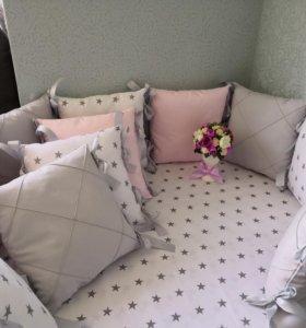 Бортики в кроватку (шью сама)