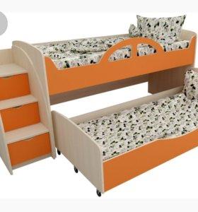 Двухуровневая выдвижная кровать
