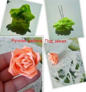 Роза на шпильке 1 шт.