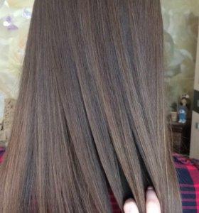 Кератин,ботокс(полировка волос,стрижка кончиков)