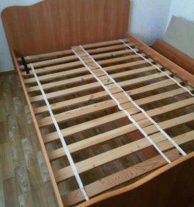Кровать1.4+матрас. Б/у