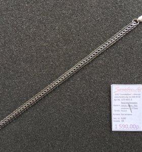Новый браслет из серебра 925-й пробы