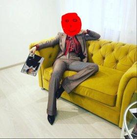 Шикарный велюровый диван + кресло