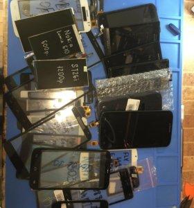 Сенсорные стекла дисплеи модули оптом срочно